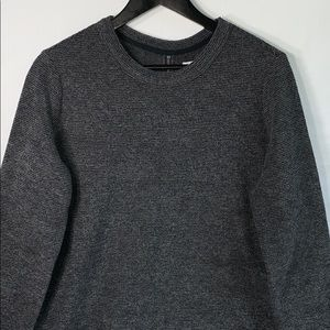 Lou and Grey Women's Gray Sweater With Back Zip Up